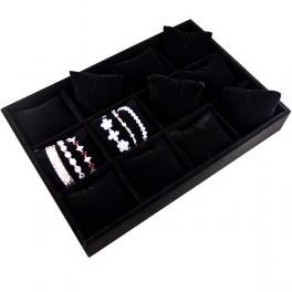 Планшет бархатный с подушками для браслетов, цепочек, часов