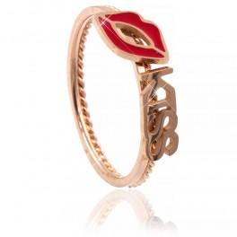 Кольцо (позолота) Парное, поцелуй (сталь)