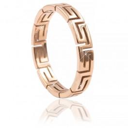 Кольцо сталь Греческий узор
