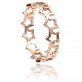 Кольцо (позолота) Звездочки (сталь)