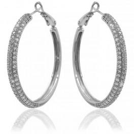 Серьги-кольца родиум
