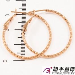 Серьги-кольца позолоченные 3 см