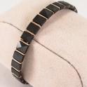 Позолоченный браслет, металлокерамика Длина 19 см.