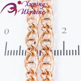 Цепочка позолота овальные звенья с перегородкой 0,5/45 см