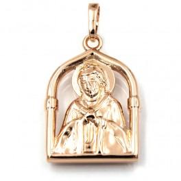 Ладанка Образ Иисуса 2 см (Медицинское золото)