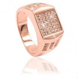 Кольцо позолота Печатка квадрат,мелкие камни+по сторонам