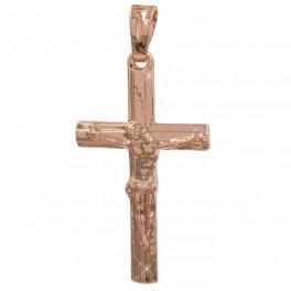 Подвеска позолота крестик 3 см - с распятием