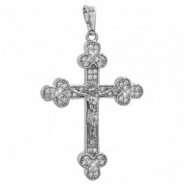 Подвеска родиум Крест с распятием