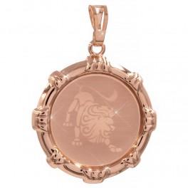 Подвеска Знак Зодиака Лев (Медицинское золото)