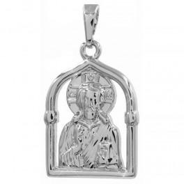 Ладанка родиум Образ Иисуса 2 см (Медицинское золото)