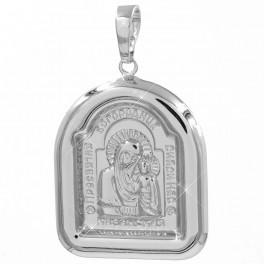 Подвеска родиум ладанка Богородица