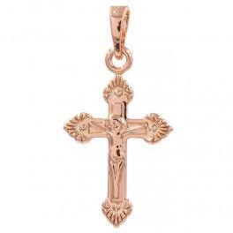 Крестик позолоченный с распятием