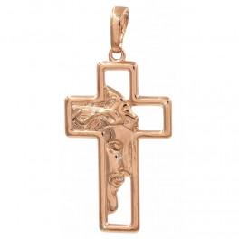 Подвеска позолота крест с Иисусом