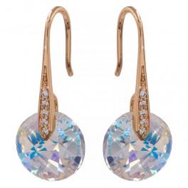 Серьги лим. позолота Swarovski Crystals 3 см