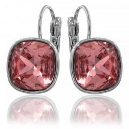 Серьги с кристаллами Swarovski родиум (Медицинская сталь)