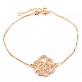 Браслет лимонное золото (Роза)