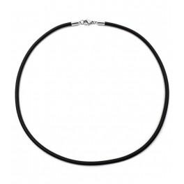 Шнурок на шею черный каучуковый 0,3*55см (Медицинское золото)