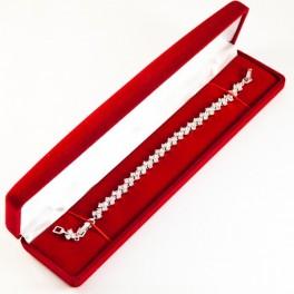 Коробка подарочная бархатная для браслета