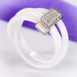 Белое тройное керамическое кольцо