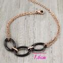 Браслет-цепочка с керамикой 3 круга/овала