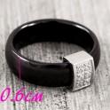 Кольцо керамика Широкое 0,6 см с движ. квадр. элементом