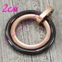 Подвеска керамика Два кольца (плоск.) керамика+сталь